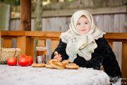 Творческая детская фотосессия зимой в деревне