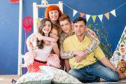 Большая семейная фотосессия в фотостудии в Кирове