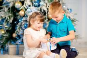 Детская новогодняя фотосессия в фотостудии Давинчи